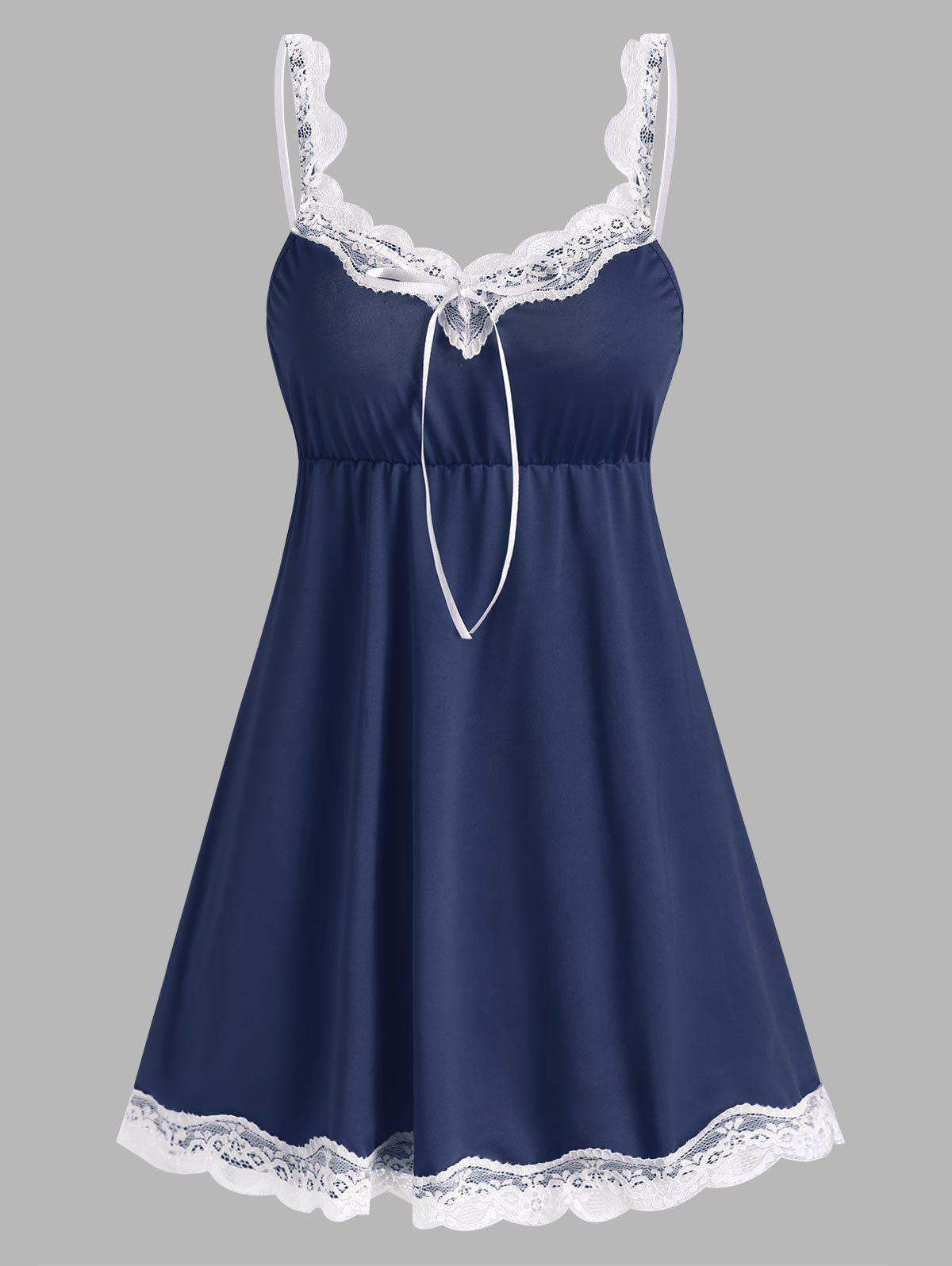 Cheap Lace Panel Chemise
