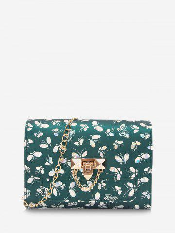 Butterfly Pattern Chain Crossbody Bag