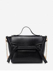 Chain Textured Knot Cover Crossbody Bag -