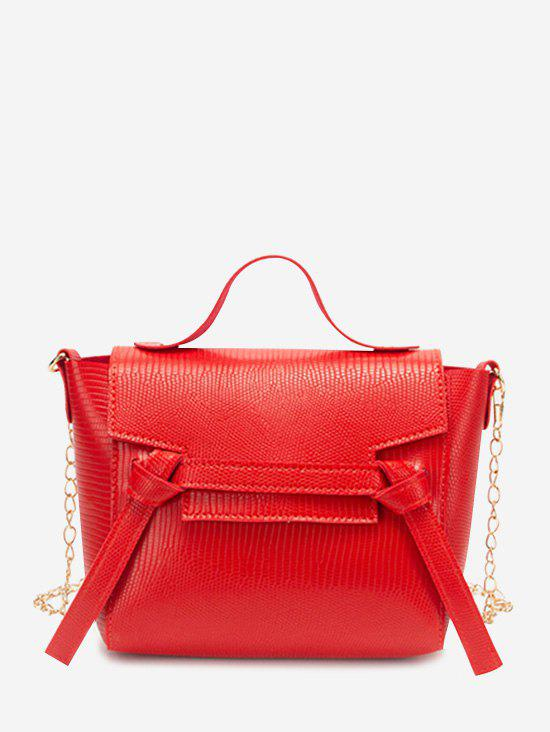New Chain Textured Knot Cover Crossbody Bag