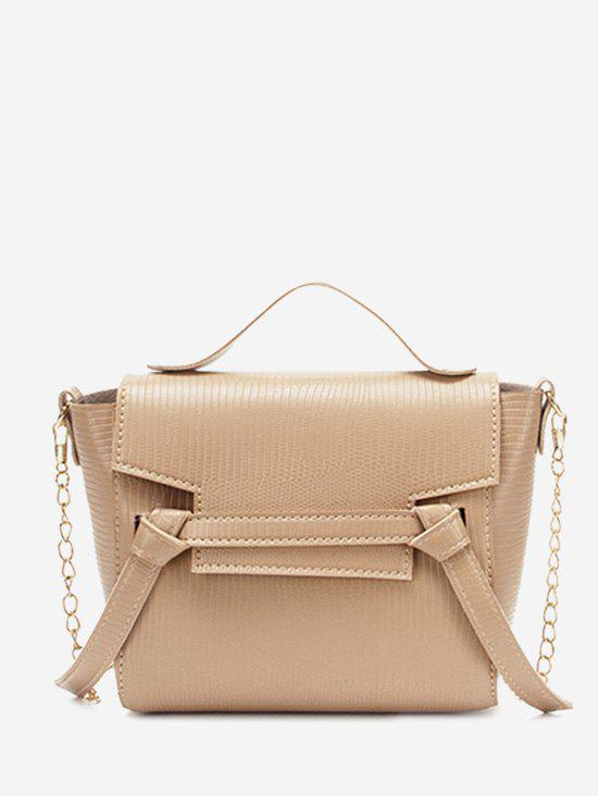 Affordable Chain Textured Knot Cover Crossbody Bag
