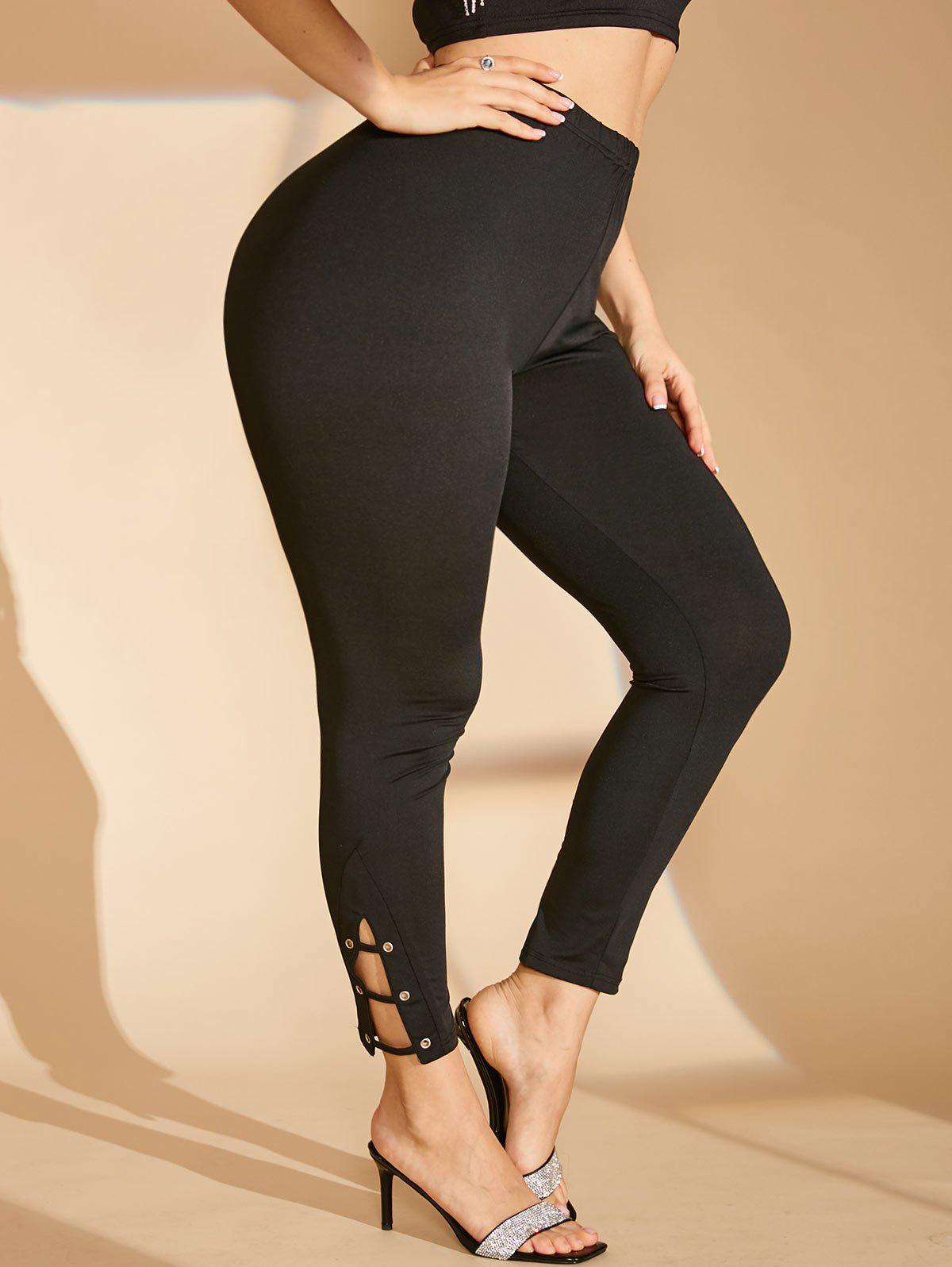 Shops Plus Size Ladder Cut Grommet Skinny Leggings