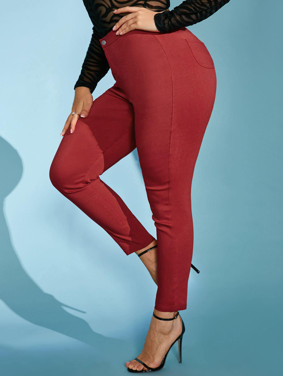 New High Waisted Colored Plus Size Skinny Pants