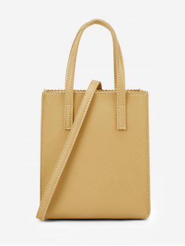 Sac Fourre-tout Rectangle Ourlet Zigzag - GOLDENROD