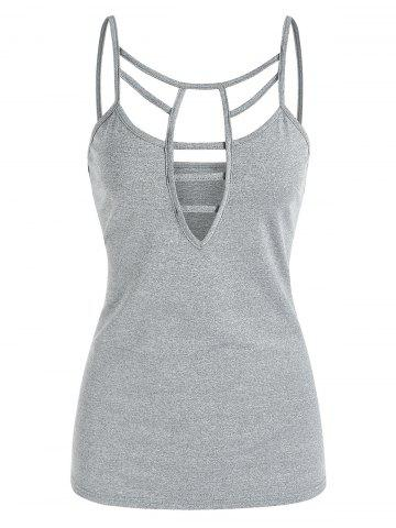 Cut Out Casual Cami Tank Top