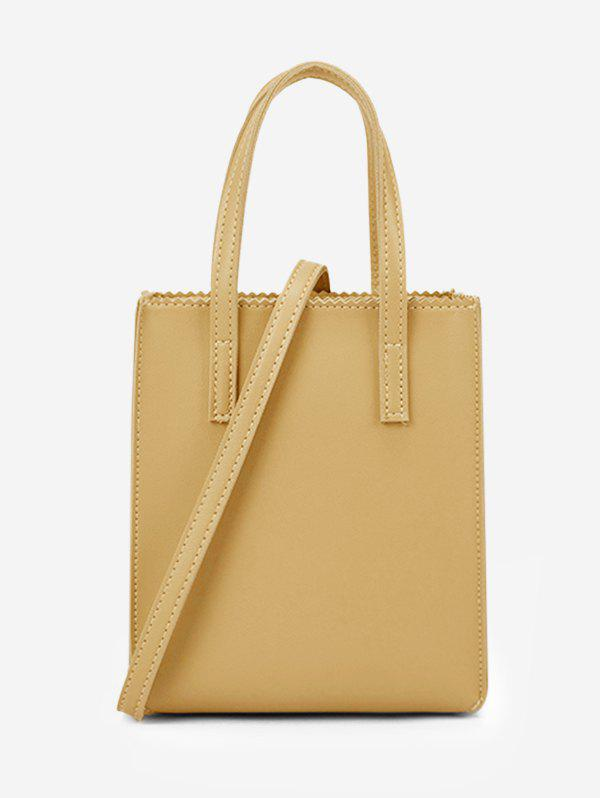 Sac Fourre-tout Rectangle Ourlet Zigzag Verge d'Or
