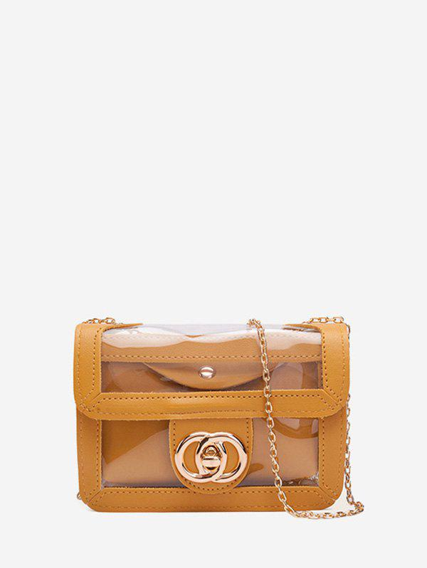 Store Transparent Chain Double Circle Pattern Crossbody Bag