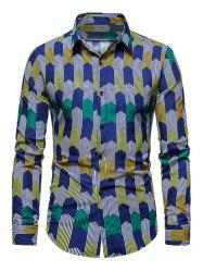 Colorful Striped Print Long Sleeve Shirt -