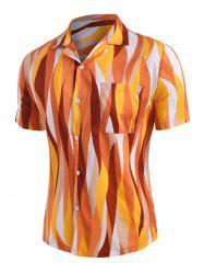 Colorful Geometric Button Up Shirt -