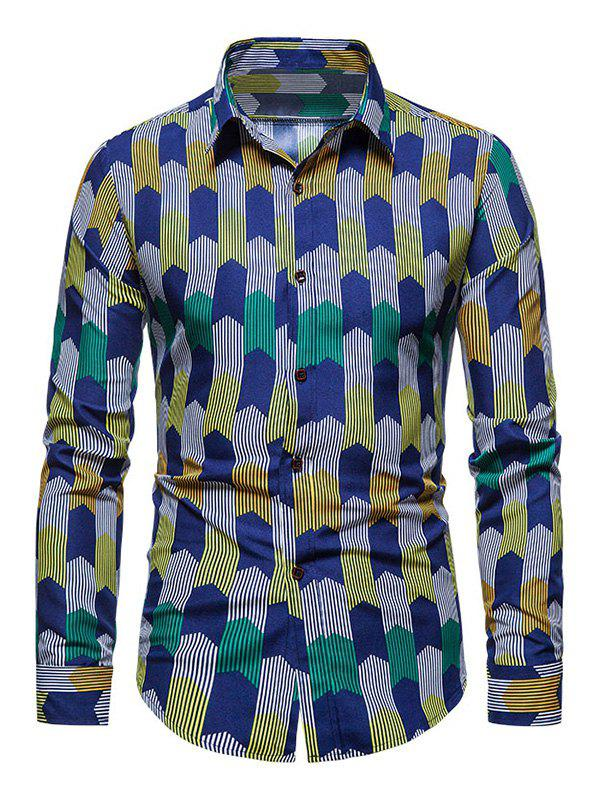 Shops Colorful Striped Print Long Sleeve Shirt