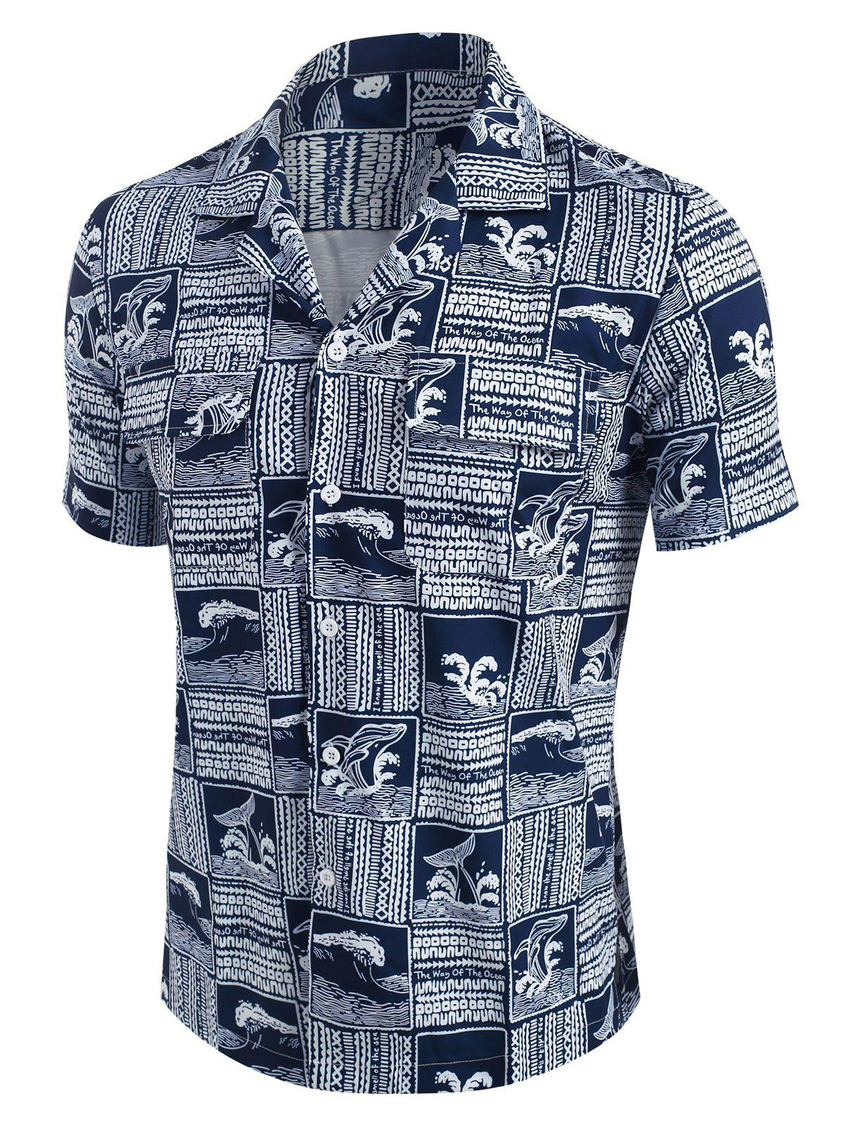 Outfits The Way Of The Ocean Graphic Print Shirt