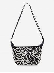 Zebra Stripes Pattern Casual Shoulder Bag -