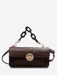 Stone Grain Chunky Chain Mini Crossbody Bag -
