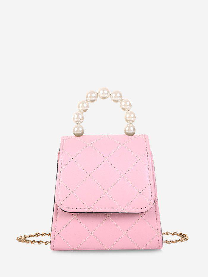 Best Faux Pearl Quilted Flap Mini Crossbody Bag