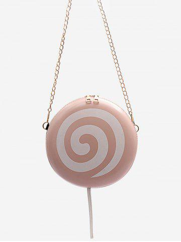 Lollipop Shape Chain Mini Crossbody Bag - PIG PINK