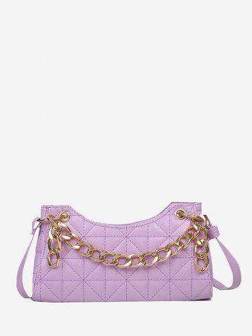 Quilted Chain Shoulder Bag - HELIOTROPE PURPLE
