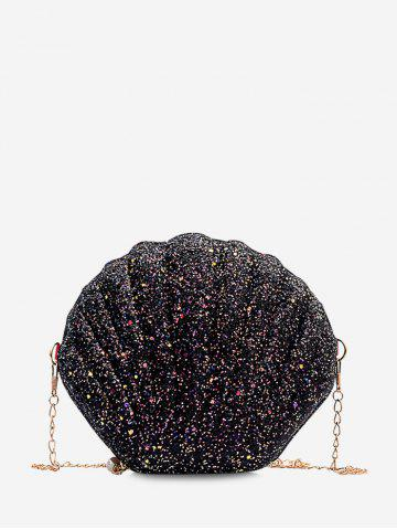 Shell Shaped Chain Sequined Crossbody Bag