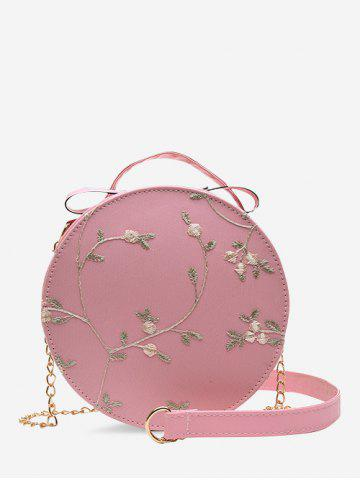 Lace Embroidery Flower Crossbody Canteen Bag