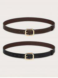 2Pcs Animal Embossed Octagon Buckle Belt Set -