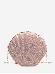 Shell Shaped Chain Sequined Crossbody Bag -