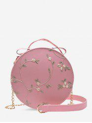 Lace Embroidery Flower Crossbody Canteen Bag -