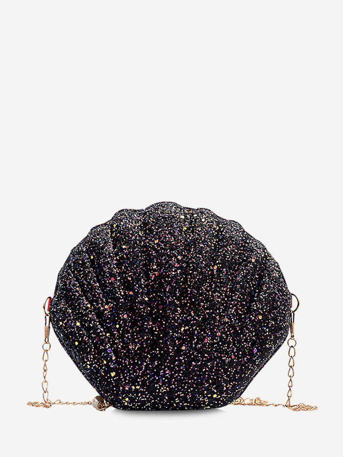 Shop Shell Shaped Chain Sequined Crossbody Bag