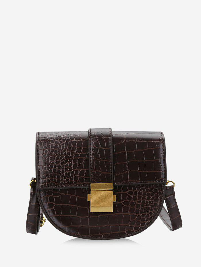 Fashion Retro Textured Crossbody Saddle Bag