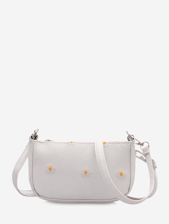 Chic Floral Daisy Pattern Shoulder Bag