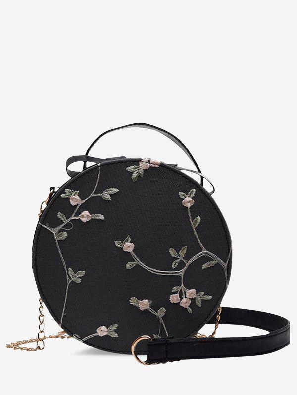Outfits Lace Embroidery Flower Crossbody Canteen Bag