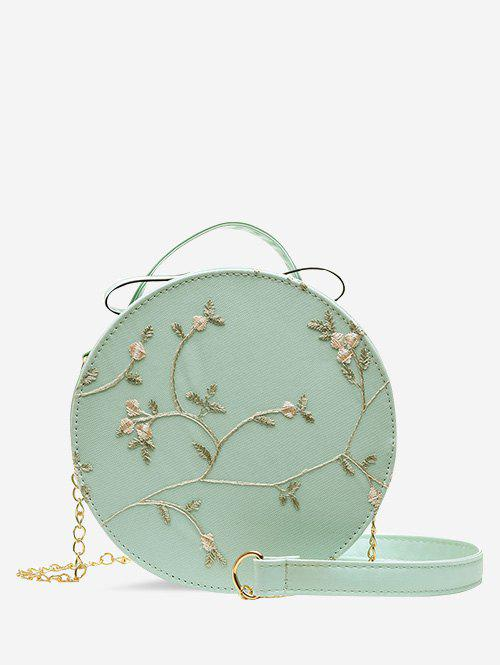 Shop Lace Embroidery Flower Crossbody Canteen Bag