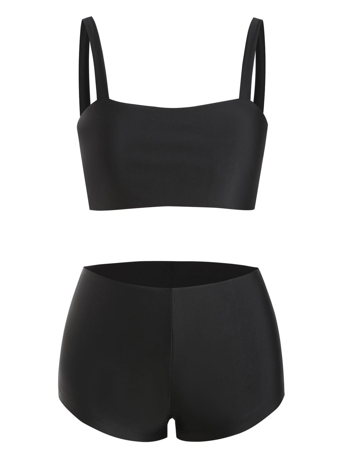 Buy Basic Bra and Boyshorts Bikini Set