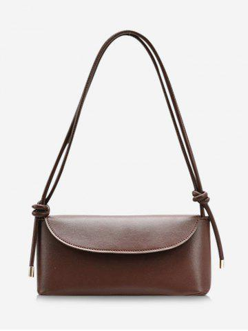 Brief Cover Knotted Strap Shoulder Bag - COFFEE