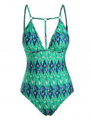 Strappy O Ring Backless One-piece Swimsuit -