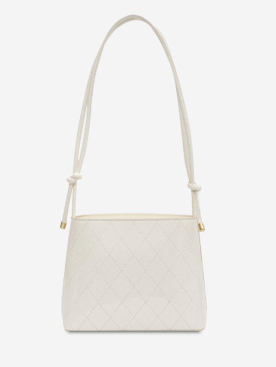 Sale Rhombus Stitching Knot Strap Shoulder Bag