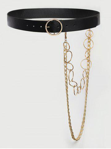 Detachable Layered Chains Buckle Belt