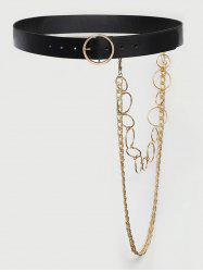 Detachable Layered Chains Buckle Belt -
