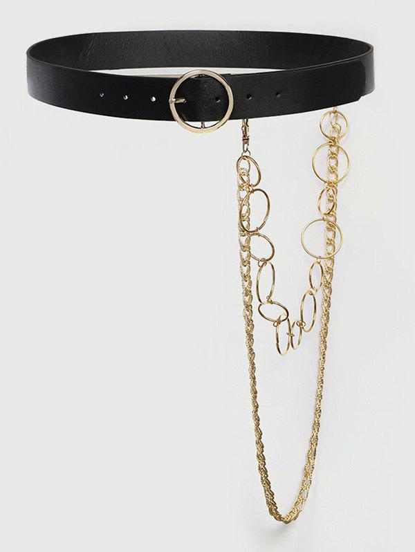 Discount Detachable Layered Chains Buckle Belt