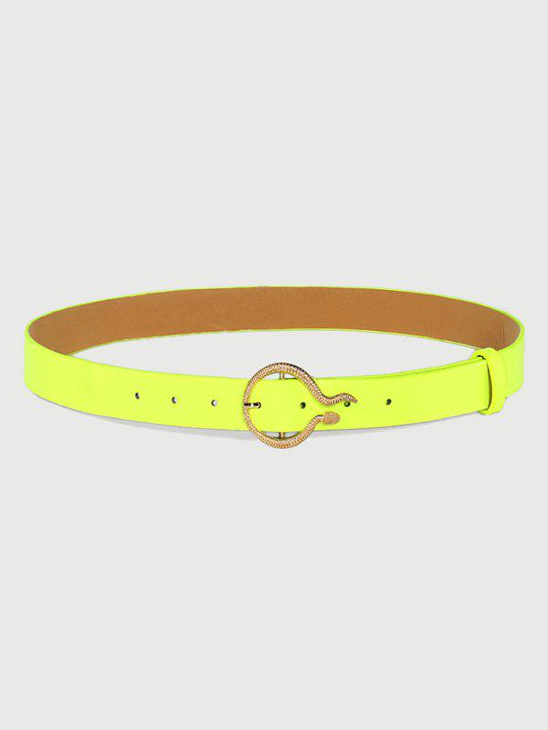 Shop Fluorescent Carved Golden Snake Buckle Belt