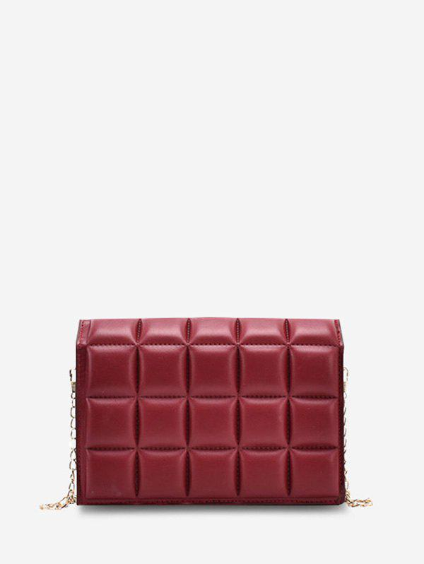 Store Soft Chocolate-Quilted Flap Chain Crossbody Bag