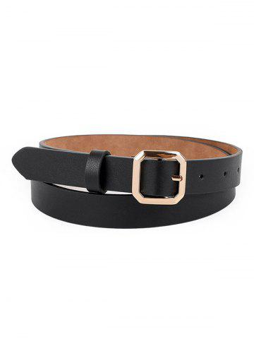 Metallic Octagon Shape Buckle Belt