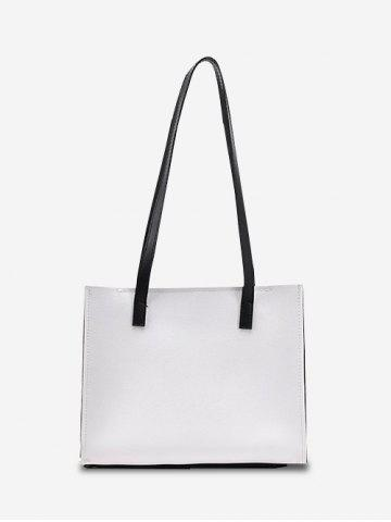 Brief Square Shoulder Bag - WHITE
