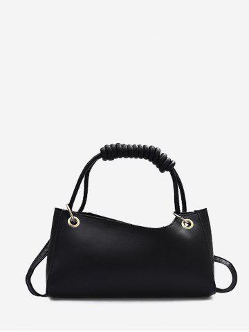 Brief Wrap Handle Handbag - BLACK