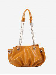Pleated Chain Strap Shoulder Bag -