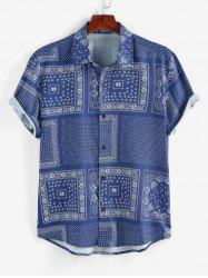 Scarf Print Short Sleeve Shirt -