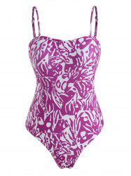 Abstract Print One-piece High Leg Swimsuit -