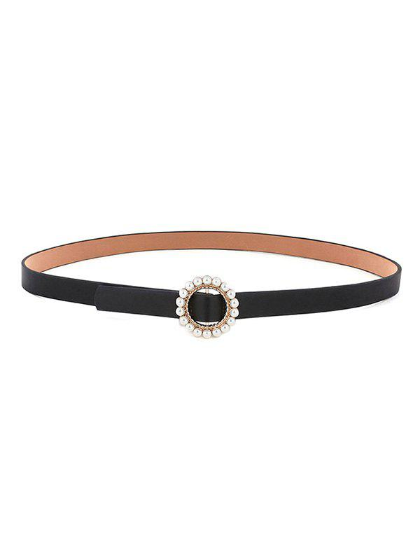 Shop Faux Pearl Inlaid Round Buckle Belt