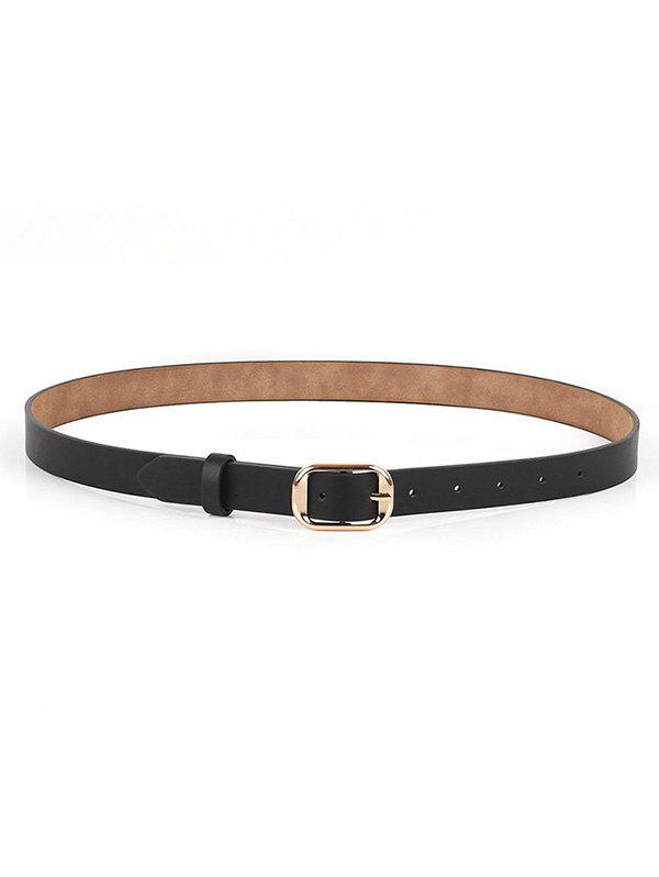 Trendy Sleek Rectangle Shape Buckle Belt