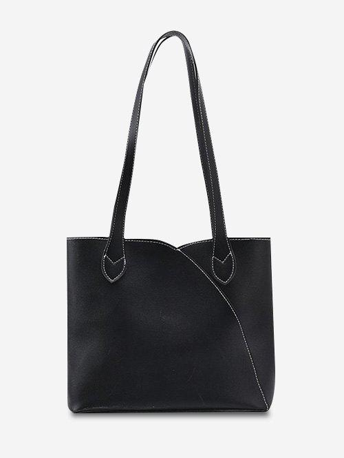 Outfits Splicing Square Tote Bag
