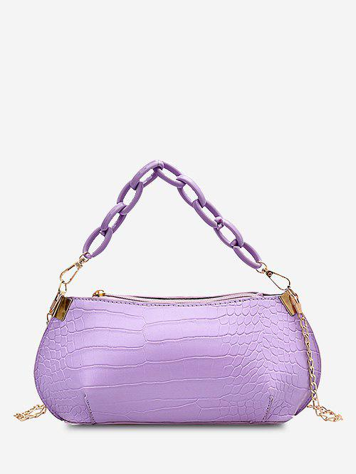 Outfits Solid Textured Chains Handbag