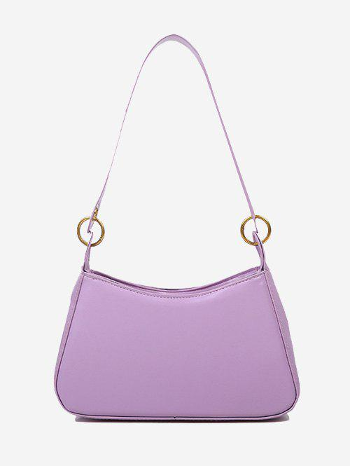 Fancy Minimalist O Ring Solid Shoulder Bag